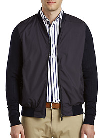 Paul & Shark® Wool/Nylon Zip-Front Sweater