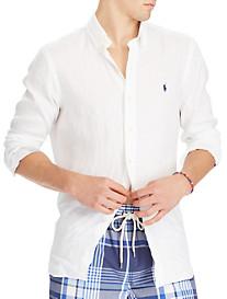 Polo Ralph Lauren Classic Fit Solid Linen Sport Shirt