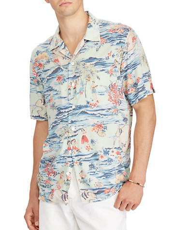 Polo Ralph Lauren® Classic Fit Camp Shirt - Available in luau