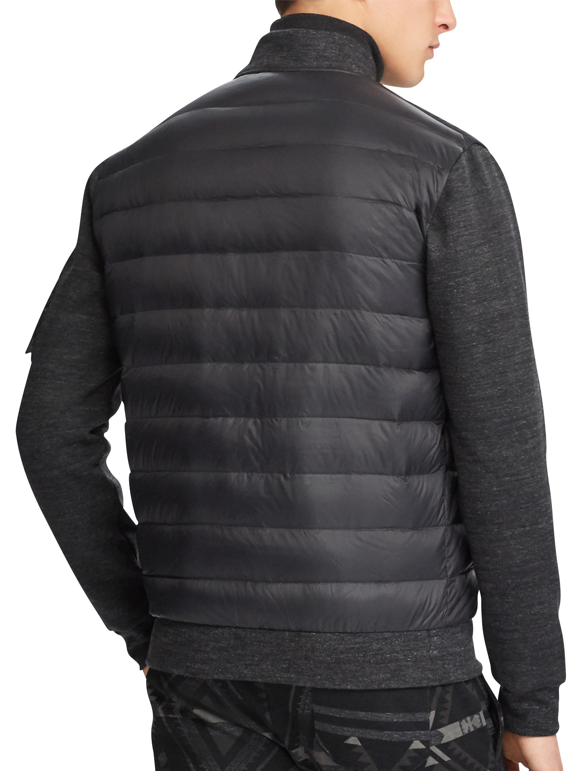 Polo Ralph Lauren Down Panel Double Knit Bomber Jacket
