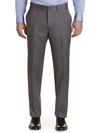 Michael Kors Grid Flat-Front Suit Pants