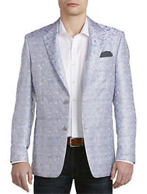 Tallia Orange Floral Overlay Sport Coat