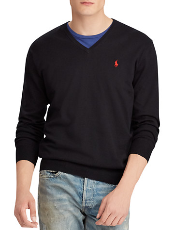 Polo Ralph Lauren® Cotton V-Neck Sweater