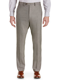 Tallia Orange Birdseye Flat-Front Suit Pants