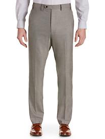 Tallia Orange Birdseye Flat-Front Suit Pants