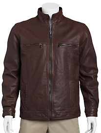 Tommy Bahama® Hudson Leather Aviator Jacket