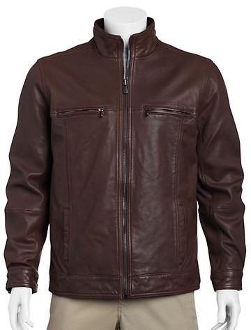 Tommy Bahama® Hudson Leather Aviator Jacket