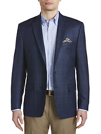 Ralph by Ralph Lauren Comfort Flex Windowpane Silk/Wool Sport Coat
