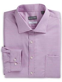 Michael Kors® Non-Iron Textured Mini Check Stretch Dress Shirt