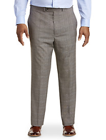 Geoffrey Beene Flat-Front Plaid Suit Pants