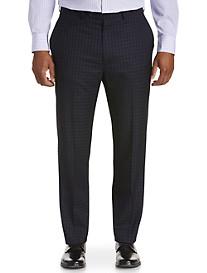 Geoffrey Beene Check Grid Flat-Front Suit Pants
