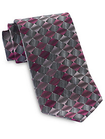 Geoffrey Beene® Repeating Diamond Geometric Tie