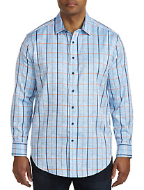 Robert Graham DXL Jacquard Plaid Sport Shirt