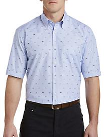 Paul & Shark® Shark Stripe Sport Shirt
