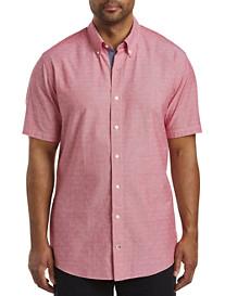Nautica Diamond Dobby-Pattern Sport Shirt