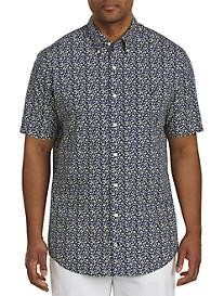 Nautica Floral-Print Sport Shirt