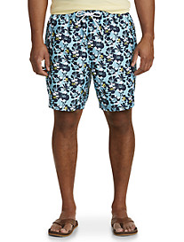 Nautica Abstract Poppy Swim Trunks