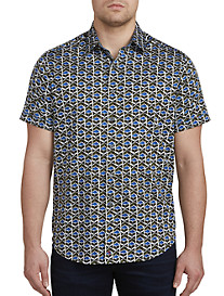 Robert Graham Tames Geometric-Print Sport Shirt