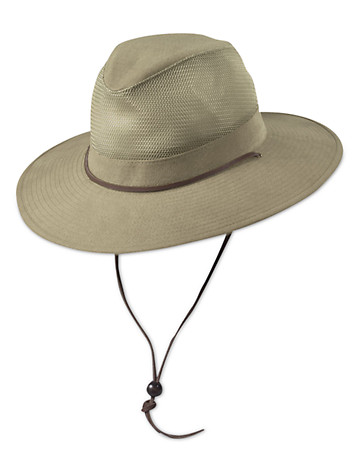 DPC by Dorfman Pacific Brushed Twill Safari Hat - Available in khaki