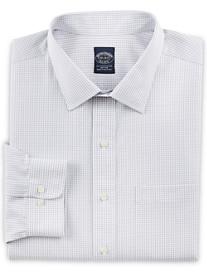 Brooks Brothers® Non-Iron Double Mini Windowpane Dress Shirt