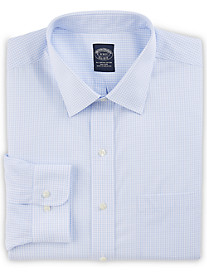 Brooks Brothers® Non-Iron Double Mini Windowpane Broadcloth Dress Shirt