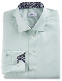 Eton Micro Check Dress Shirt