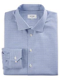 Eton Mini Geo Print Dress Shirt