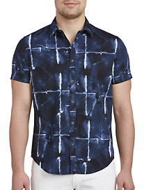 Calvin Klein Jeans® Abstract Grid Print Sport Shirt