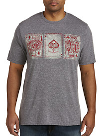 Lucky Brand Poker Cards Graphic Tee
