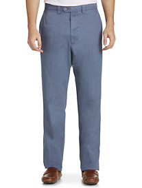 Bruno Saint Hilaire Simon Textured Flat-Front Pants