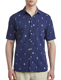 Tommy Bahama Mix Master Print Seersucker Sport Shirt