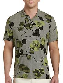 Michael Kors® Abstract Floral Print Polo Shirt