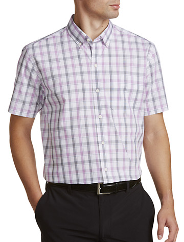 Cutter & Buck® Non-Iron Griffen Plaid Poplin Sport Shirt - Available in magnetic