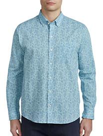 Cutter & Buck® Jameson Paisley Seersucker Sport Shirt
