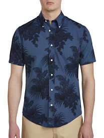 Brooks Brothers Tropical Floral Print Broadcloth Sport Shirt