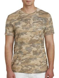 Buffalo David Bitton Camo-Print Knit Shirt