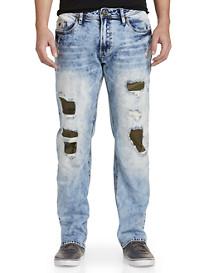Buffalo David Bitton® Cavalier Rip & Repair Stretch Jeans – Light Wash