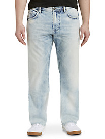 Buffalo David Bitton® Wolfpack Acid Wash Jeans – Light Wash