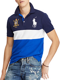 Polo Ralph Lauren Classic Fit Colorblock Big Pony Mesh Polo Shirt