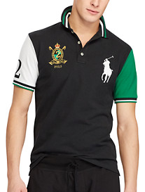 Polo Ralph Lauren® Classic Fit Colorblock Big Pony Mesh Polo Shirt