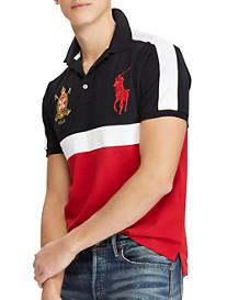 Polo Ralph Lauren Classic Fit Colorblock Big Pony Mesh Polo Shirt