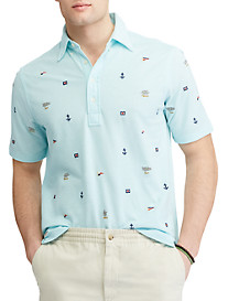 Polo Ralph Lauren® Classic Fit Nautical Embroidered Knit Oxford Shirt