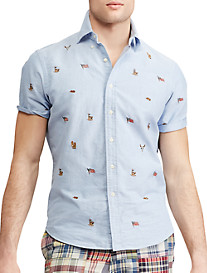 Polo Ralph Lauren Classic Fit Embroidered Flag Sport Shirt
