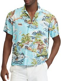 Polo Ralph Lauren® Classic Fit Landscape Print Sport Shirt