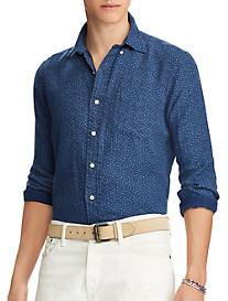 Polo Ralph Lauren Classic Fit Floral-Print Linen Sport Shirt