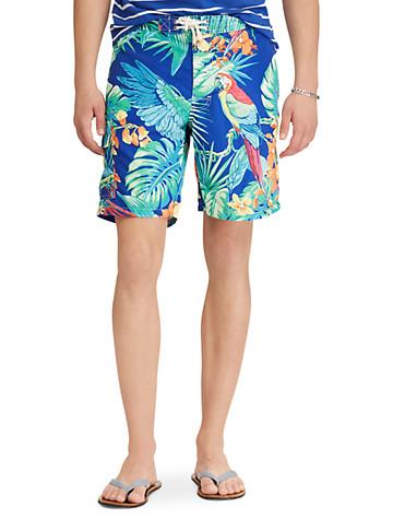 76759b6d3a Big & Tall Polo Ralph Lauren 174 Jungle Print Kailua Swim Trunks thumbnail