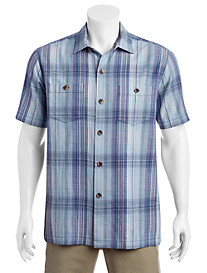Tommy Bahama® Banyan Cay Plaid IslandZone® Sport Shirt