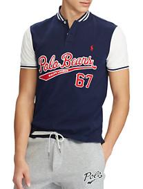 Polo Ralph Lauren Piqué Mesh Baseball Polo Shirt