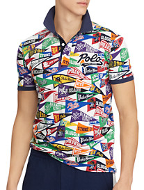 Polo Ralph Lauren® Classic Fit Baseball Banner Graphic Polo Shirt