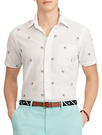Polo Ralph Lauren® Classic Fit Dog & Anchor Print Seersucker Sport Shirt